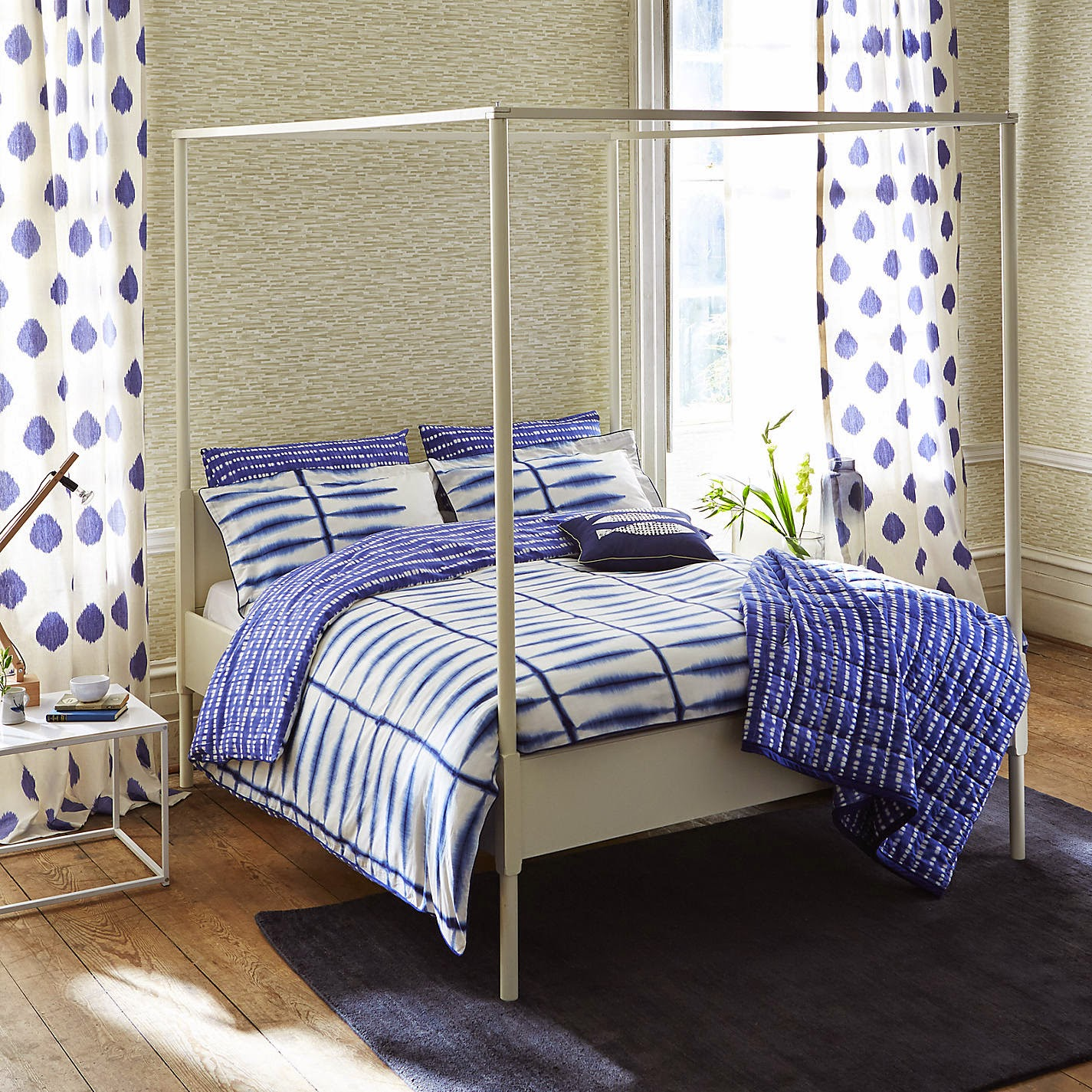 shibori bedding , shibori curtains