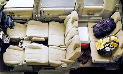 Mitsubishi Delica D-5 Konfigurasi Kursi Rebah
