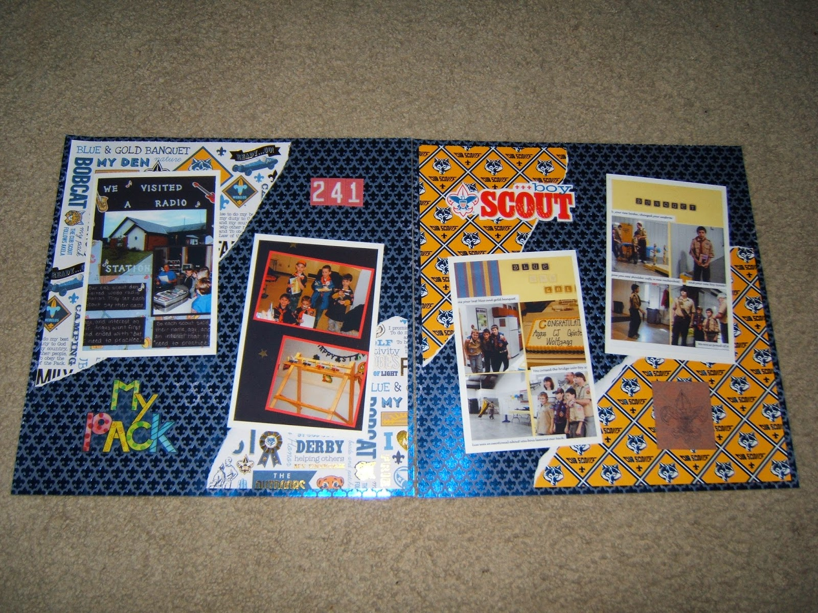 Made Just For You Scrapbooks Cub Scout Scrapbook Album