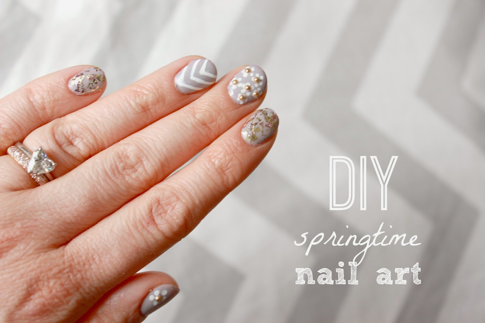 Nails of the weekdiy springtime gel nail art mrs jones london prinsesfo Images