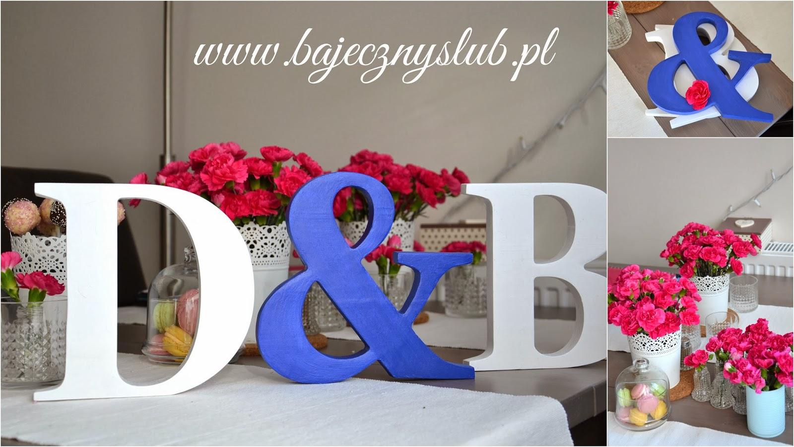 Bajeczny ślub świdnica Inicjały ślubne Litery ślubne Drewniane