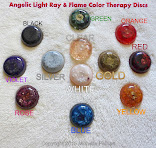 Angelic Light Ray and Flame Color Therapy Round Orgonic Energy Discs