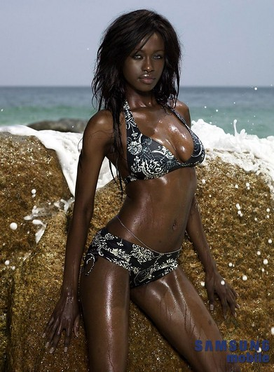 dark skin woman beach