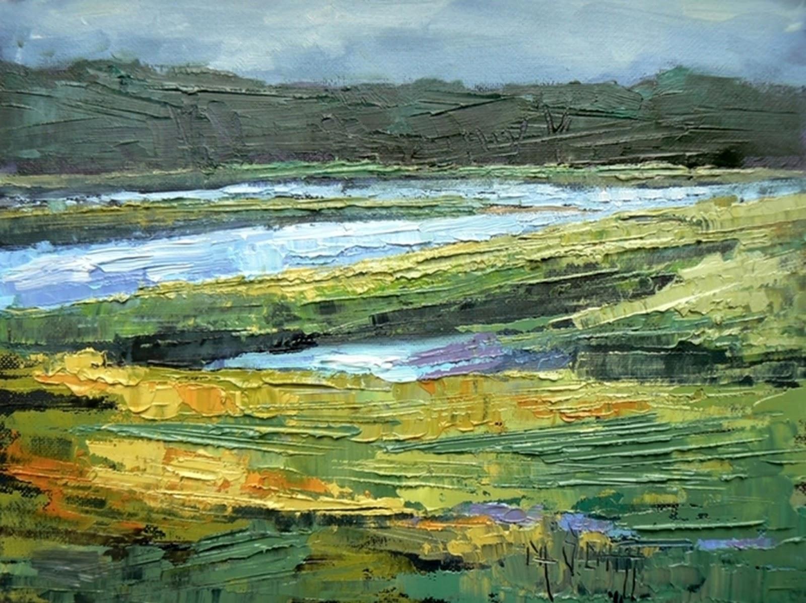 Carol Schiff Daily Paintings Landscapes Oil Landscape Palette