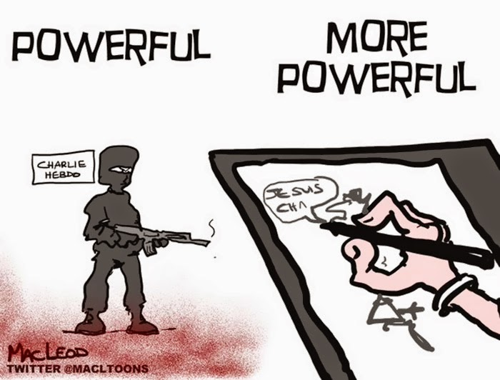 The Pen Is Mightier Than The Sword 28 Cartoonists Pay Tribute To The Victims Of The Charlie Hebdo Shooting - More Powerful