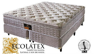 Cama Casal Box  Ecolátex King Koil