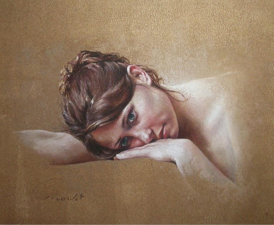 retratos-al-pastel-de-mujeres-hermosas