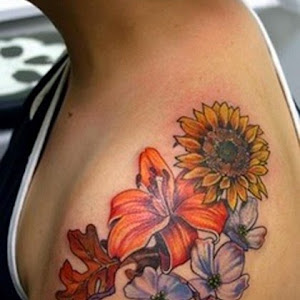 dainty flower tattoo designs