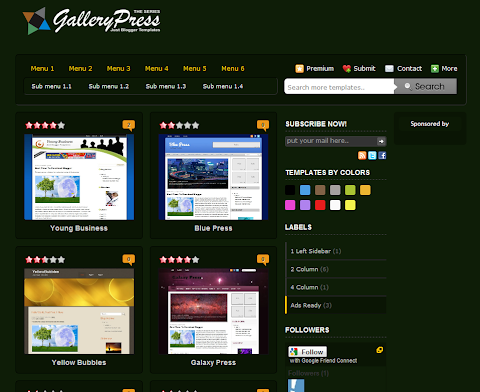 Green Gallery Press Blogger Theme