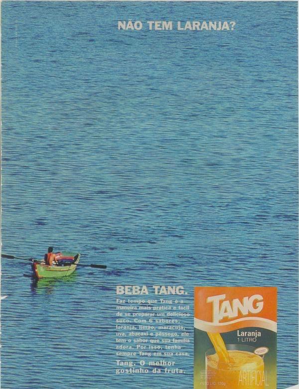 Propaganda do Suco Tang e seus sabores: campanha veiculada em 1995.