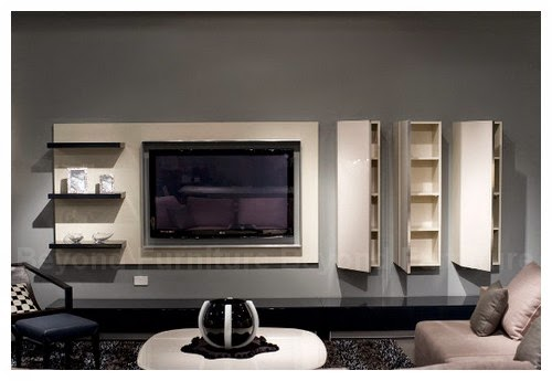 cool and modern hanging tv cabinet with storage layout designs