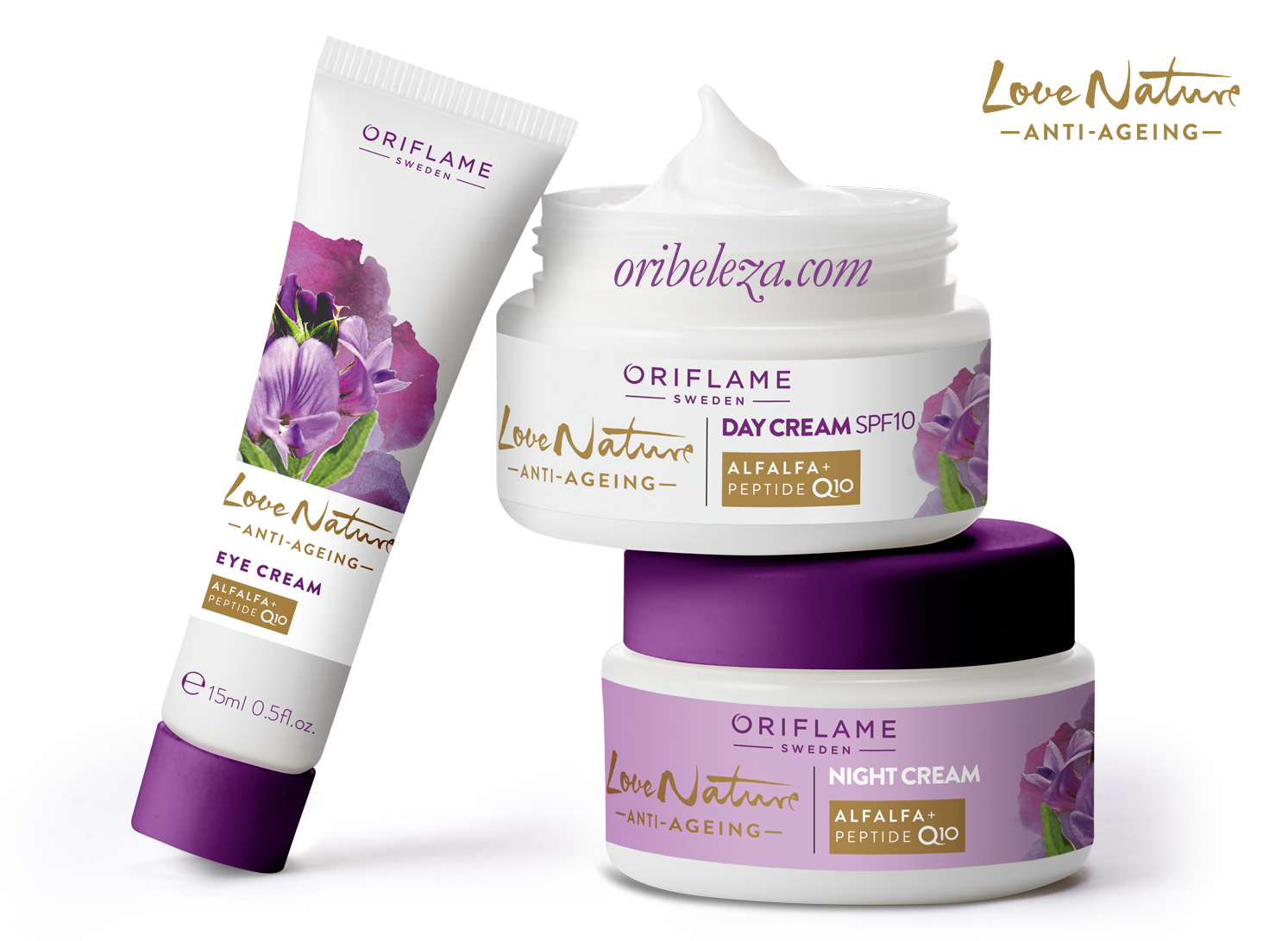 Love Nature Anti-Ageing: Cuidados do Rosto da Oriflame