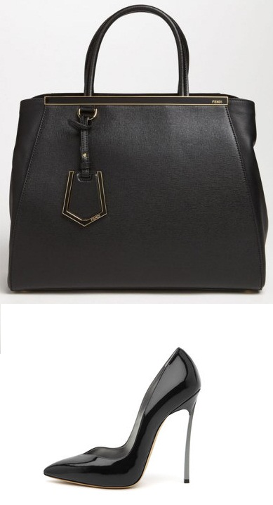 Fendi 2jours Bag, Casadei Blade Pump
