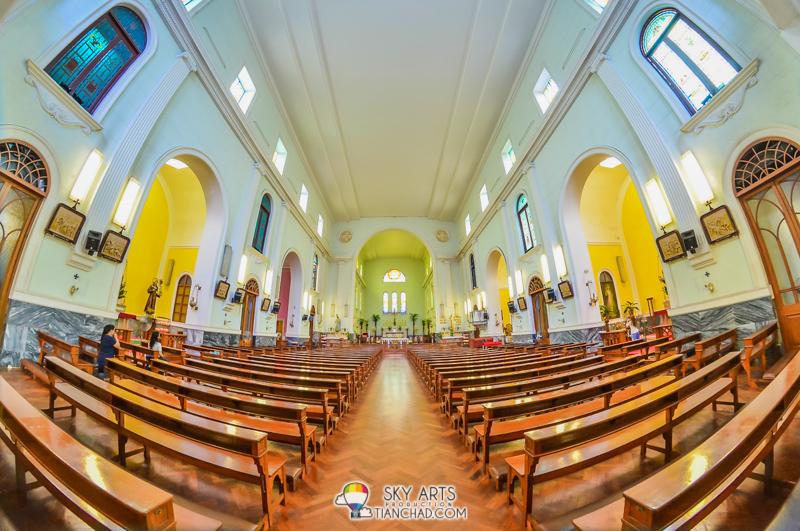 Amazing interior of Catedral de Macau 澳门主教座堂