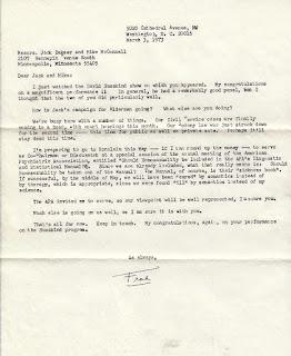 Frank Kameny letter to Jack Baker 1973