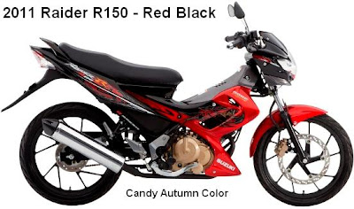 2011 Suzuki Raider R150 red Black color