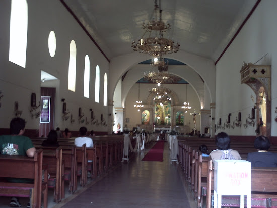 Aisle and altar of Lucban Church