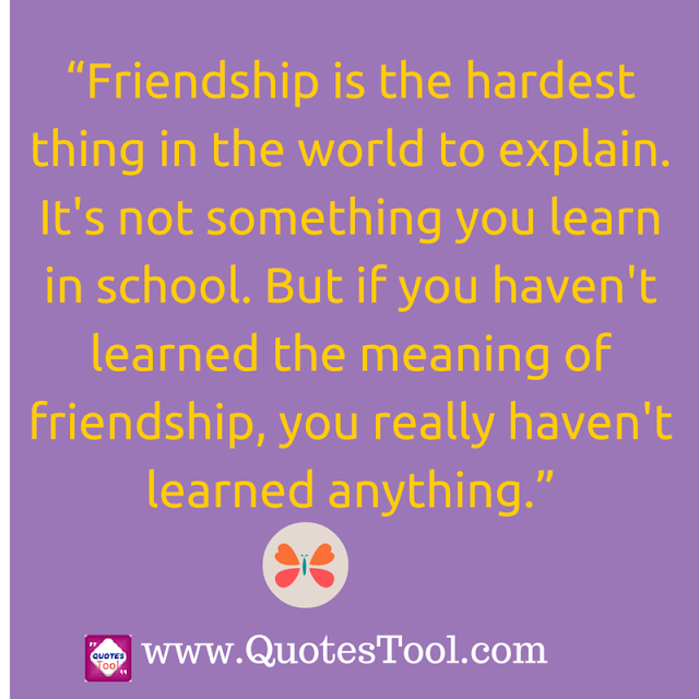 Friendship Explanation quotes image