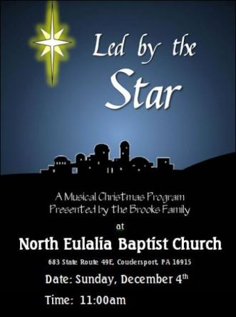 12-4 Musical Program, North Eulalia Baptist