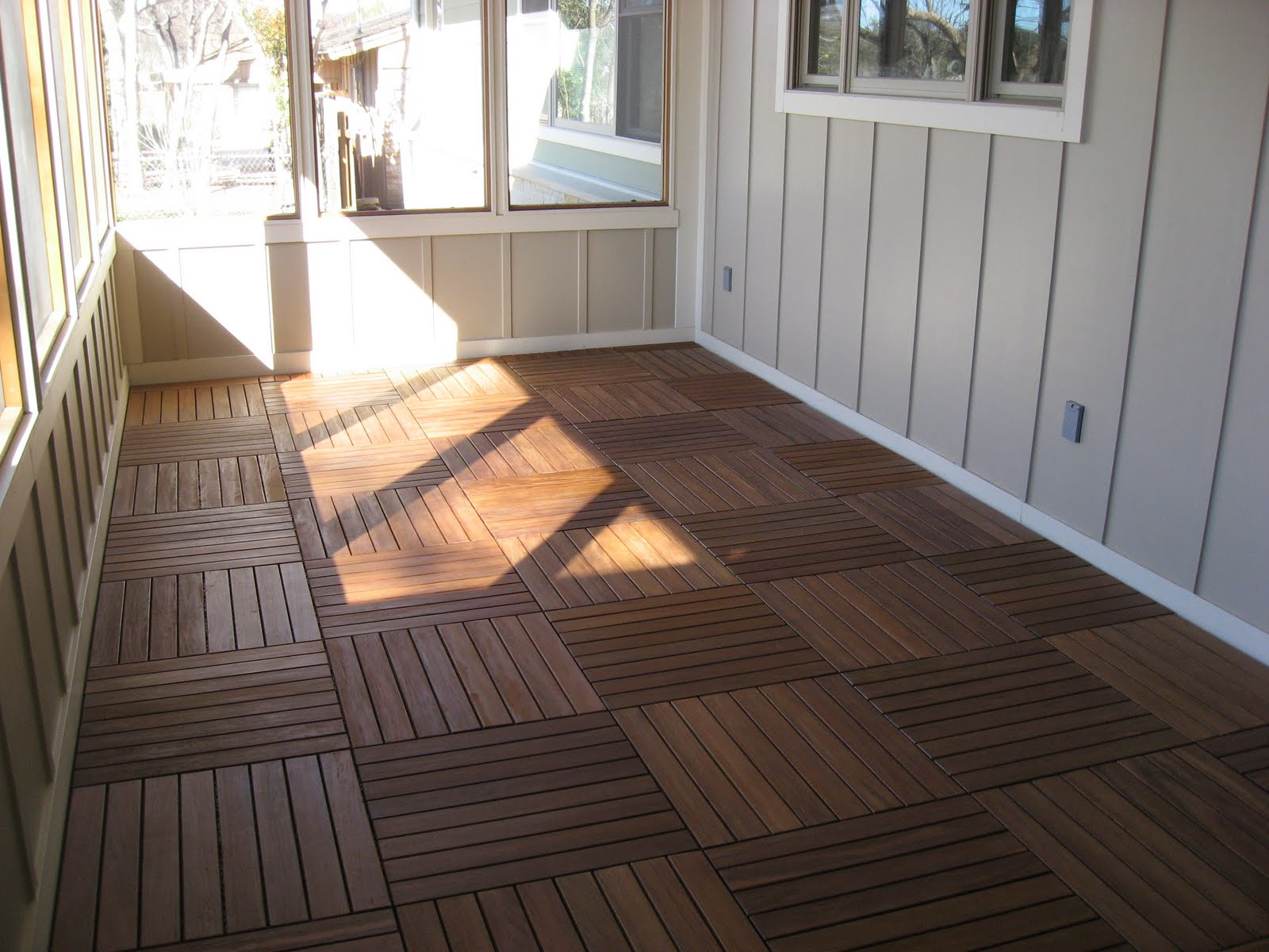 Green house good life happy first project of the new year for Flooring for porches