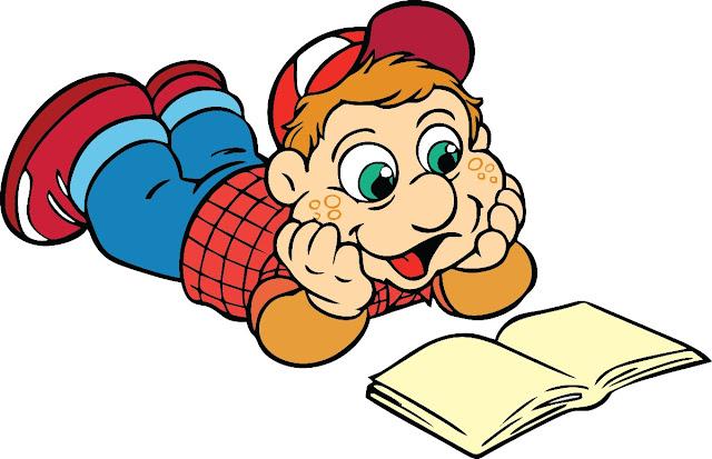 Desenho Júlio lendo Turma do Cocoricó colorido