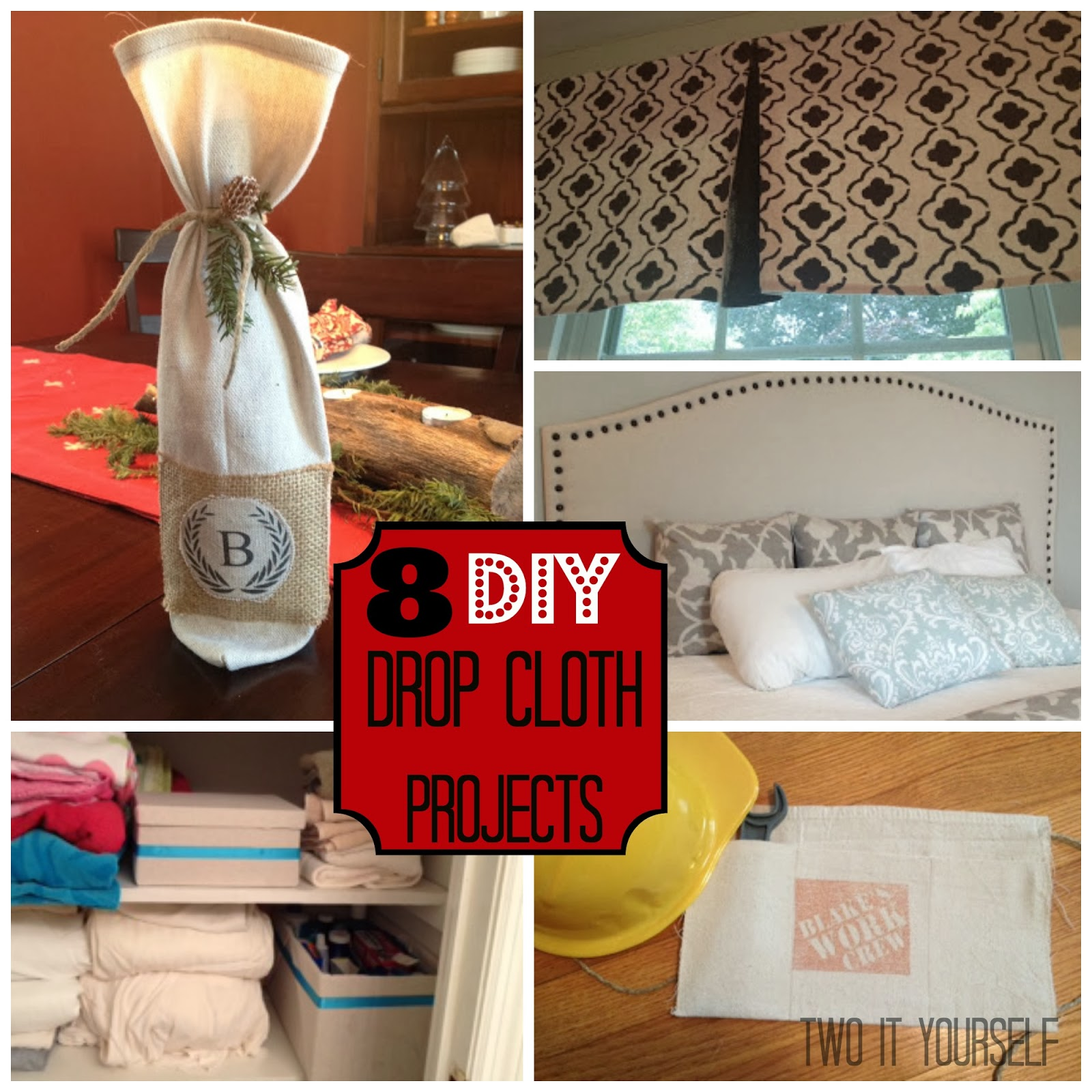 Two It Yourself 8 Diy Drop Cloth Projects
