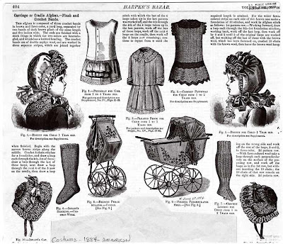 Harper's bazaar (New York), Children's clothing and baby carriages, 1884