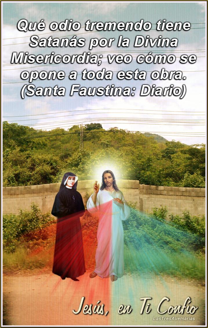imagen de jesuscristo y santa faustina juntos