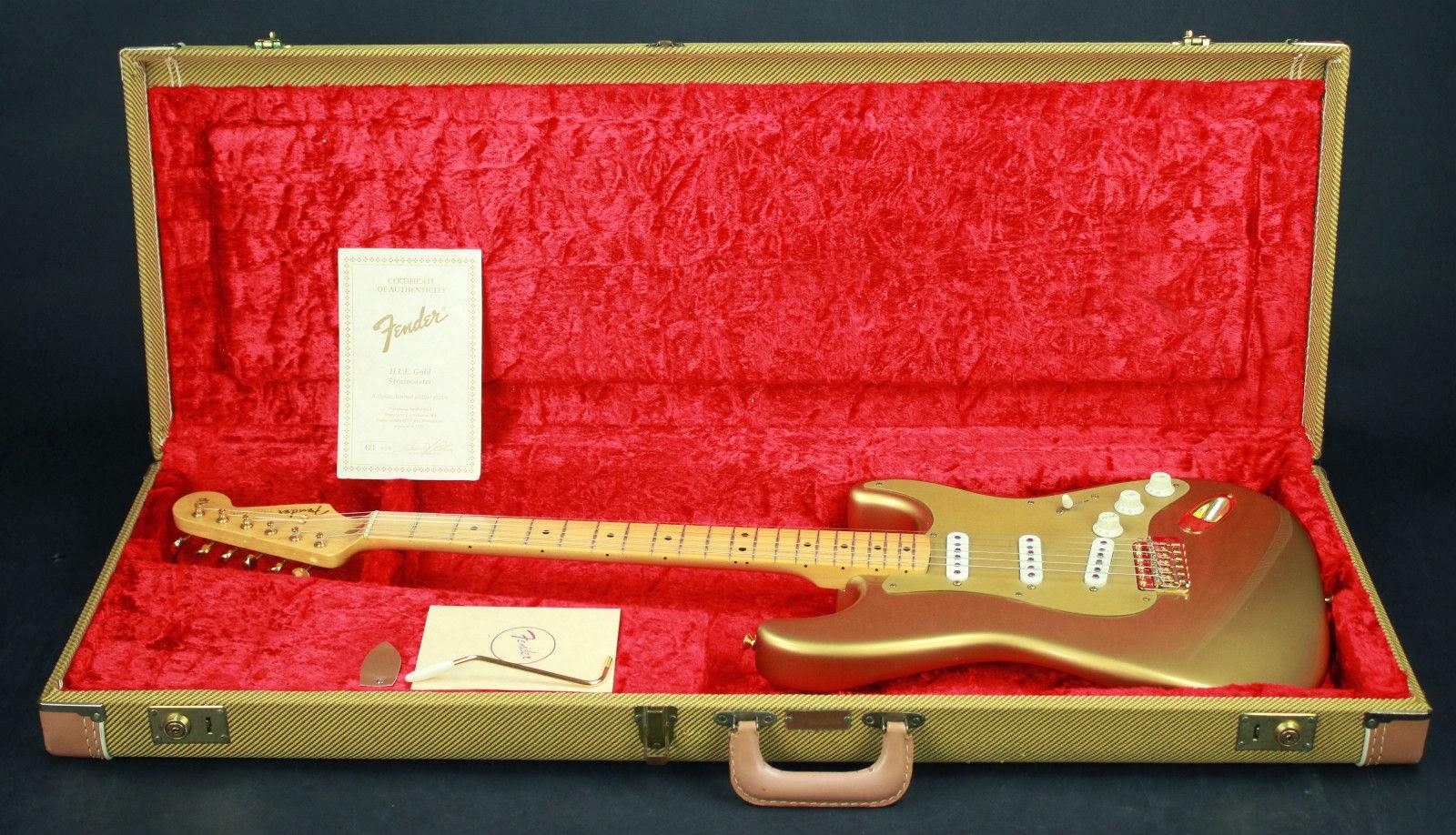 Fender CS Aztec gold HLE '57 Strat from 88-89 run