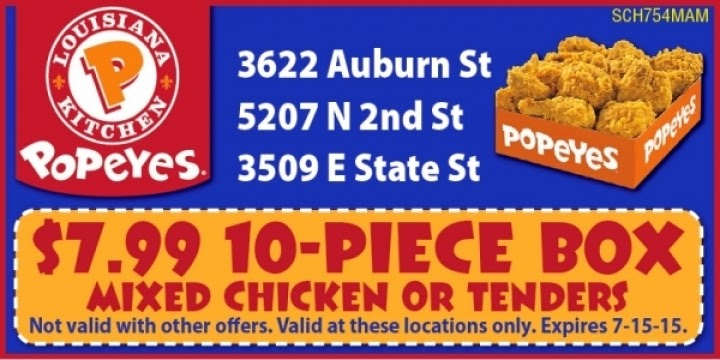 photograph about Popeyes Printable Coupons named Popeyes Rooster on the internet discount coupons - On the net Retailer Offers