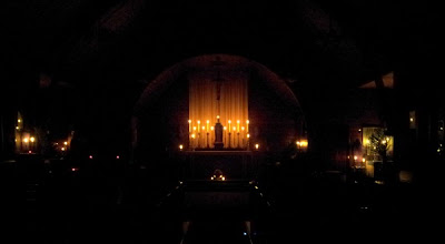 church during earth hour