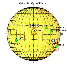 ACTIVIDAD SOLAR 22 DE NOVIEMBRE 2012