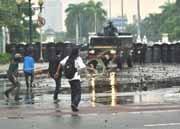 Bentrok Demo BBM Gambir