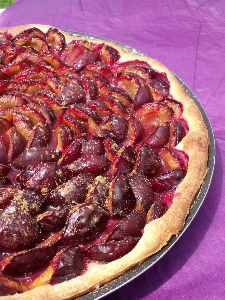 exp 233 riences gourmandes tarte aux quetsches 224 la p 226 te lev 233 e