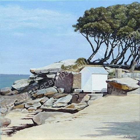 Celine wattecamps artiste peintre tableau cabines - Tableaux mer et plage ...