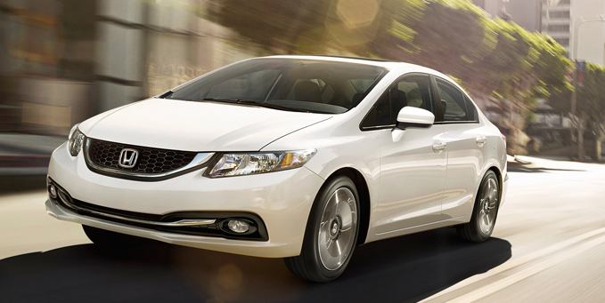 2014 Honda Civic sedan white