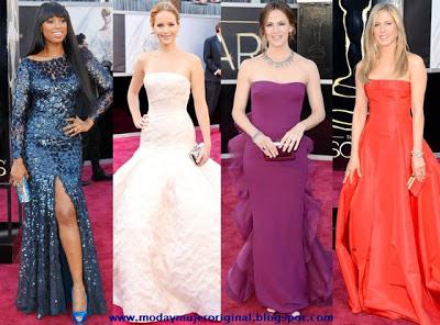 la alta costura brillo en la alfombra roja en las actrices