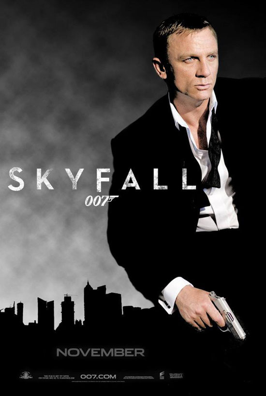 High resolution official theatrical movie poster 1 of 11 for Skyfall 2012 Image dimensions 2026 x 3000 Directed by Sam Mendes Starring Daniel