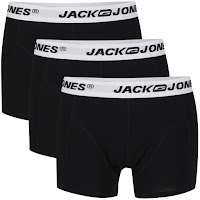 Jack & Jones Men's 3-Pack Aims Boxers - Black