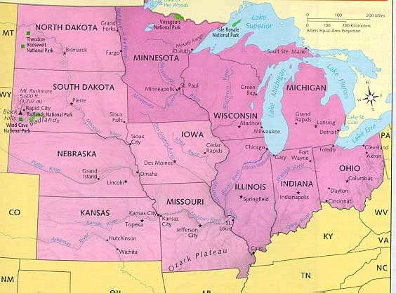 History And Culture A Midwest United States - Map of midwest states