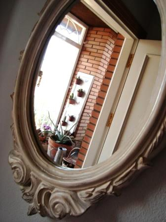 Antes y despues de un marco de espejo