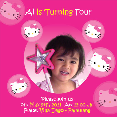 Design Undangan Ultah Anak Hello Kitty Gratis