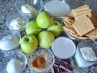 Prajitura cu mere si biscuiti ingrediente reteta