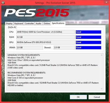 Syarat Install Game PES 2015