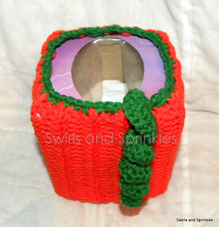 Swirls and Sprinkles: Crochet Tissue box Kozie pattern