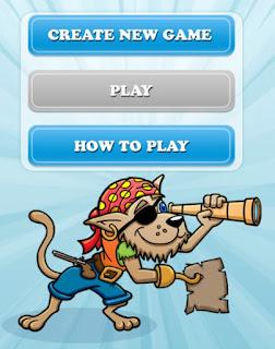 home treasure hunt app main screen