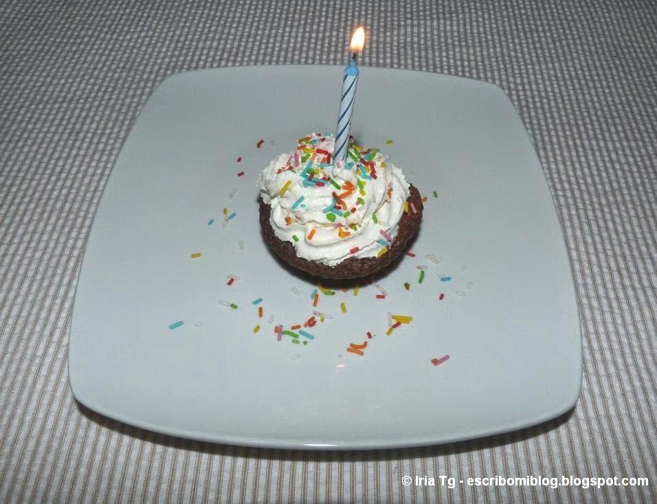 Cupcake para cumpleaños