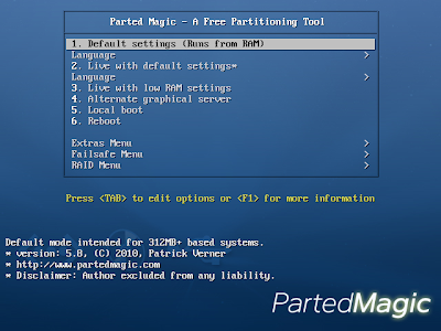 Parted Magic Live CD , system optimization softwares, System tools , Partition Bad Disk, PARTITION MANAGER, Live cd , live partition cd