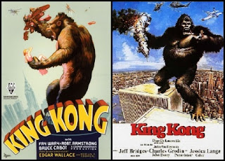 Remake King Kong poster, cartel, carátula, portada
