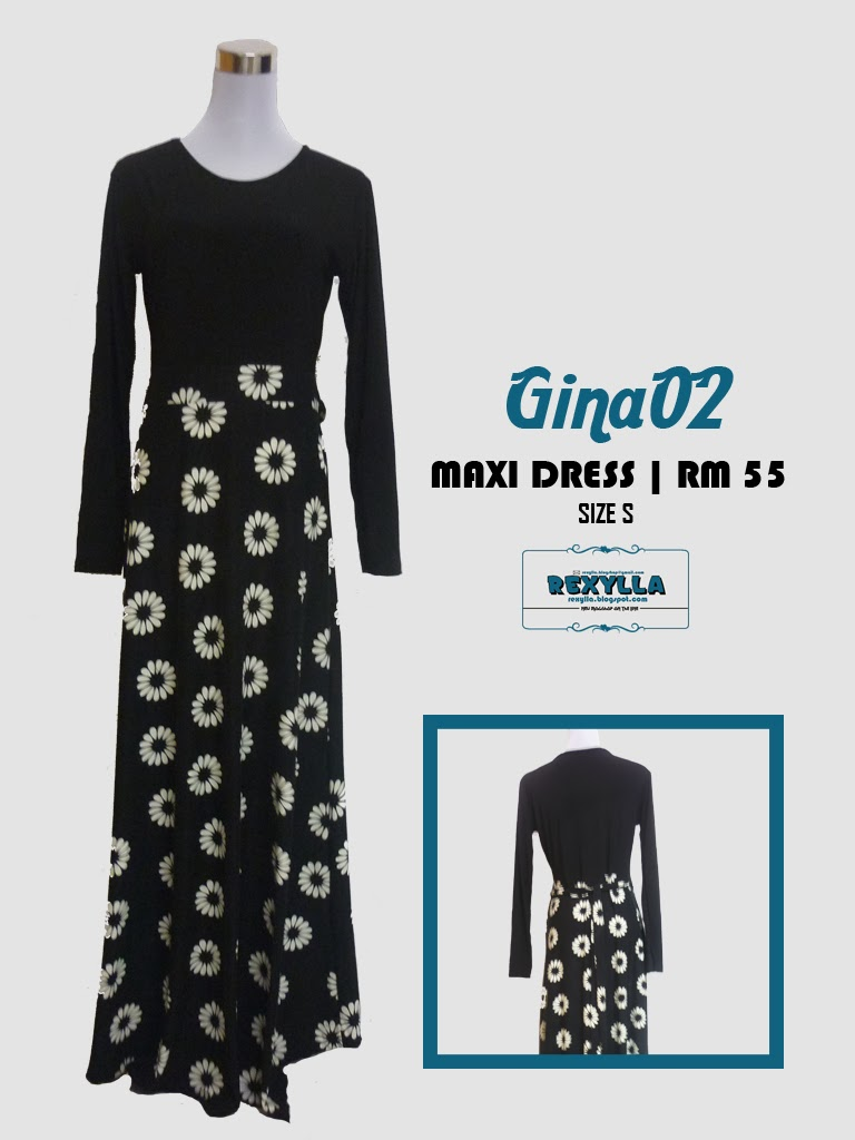maxi dress, printed, rexylla